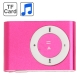 TF (Micro SD) Card Slot MP3 Player with Metal Clip (Magenta)