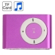 TF (Micro SD) Card Slot MP3 Player with Metal Clip (Purple)