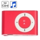 TF (Micro SD) Card Slot MP3 Player with Metal Clip (Red)