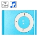 TF (Micro SD) Card Slot MP3 Player with Metal Clip (Baby Blue)