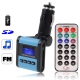 Car MP3 FM Transmitter, Supports USB Flash Disk & SD Card (Blue)