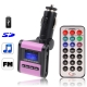 Car MP3 FM Transmitter, Supports USB Flash Disk & SD Card (Pink)