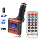 Car MP3 FM Transmitter, Supports USB Flash Disk & SD Card (Red)