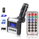 Car MP3 FM Transmitter, Supports USB Flash Disk & SD Card (Silver)