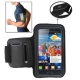 Sports Armband Case with Earphone Hole for Samsung Galaxy S2 / i9100 (Gray)