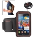 Sports Armband Case with Earphone Hole for Samsung Galaxy S2 / i9100 (Brown)