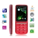 C3 Red, Russian Keyboard, Analog TV (PAL/NTSC), JAVA Bluetooth FM function Touch Screen Mobile Phone, Dual sim card Dual standby, Quad band, Network: GSM850/ 900 / 1800/ 1900MHZ
