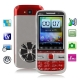 C5 TV Red, Russian Keyboard, Big Speaker, Analog TV (PAL/NTSC/SECAM), Dual sim cards Dual standby, Bluetooth FM function Touch Screen Mobile Phone, Quad band, Network: GSM850/ 900 / 1800/ 1900MHZ