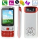 B3 Red, Russian Keyboard, Big Speaker, Bluetooth FM function Mobile Phone, Dual sim cards Dual standby, Dual band, Network: GSM900 / 1800MHZ