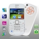 i7 White, Analog TV (PAL/NTSC/SECAM), QWERTY Keyboard, Bluetooth FM function Mobile Phone, Quad band, Network: GSM850/ 900 / 1800/ 1900MHZ