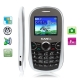 KA10 White, Russian Keyboard, Bluetooth FM function Mobile Phone with Metal battery cover, Dual sim cards Dual standby, Dual band, Network: GSM900 / 1800MHZ