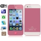 i5S Pink, Analog TV (SECAM/PAL/NTSC), Wifi JAVA Bluetooth FM function 4.0 inch Touch Screen Mobile Phone, Quad band, Network: GSM850/900/1800/1900MHZ