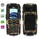 S8 Camouflage, Dustproof + Shockproof Mobile Phone with Flashlight, Bluetooth & FM Function, Single SIM Card, Long Standby Time, Network: GSM900/ 1800/ 1900MHz