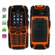 S8, Dustproof + Shockproof Mobile Phone with Flashlight, Bluetooth &amp; FM Function, Single SIM Card, Network: GSM900/ 1800/ 1900MHz (Orange)