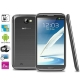 N9589 Note 2 Grey , GPS + AGPS, Android 4.1.2 Version, CPU Chip: MT6589 1.2GHZ Quad Core, ROM: 4GB , RAM: 1GB , 5.7 inch HD IPS Capacitive Surface Touch Screen 3G Ultra-thin Smart PAD Phone with Wifi Torch Bluetooth FM function, Dual Sim cards Dual standby Dual Cameras, WCDMA & GSM Network, Band (WCDMA): 2100/850MHZ (HSDPA); Band (GSM): 850/900/1800/1900MHZ