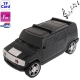 Music Car Style Card Reader Speaker with FM Radio and LED Light, Size: 210 x 92 x 90mm (Black)