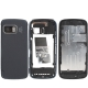 Full Housing Cover for Nokia 5800 With Full Touch-Screen, with logo  (Bluish Grey)