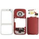 4 in 1 (Mirror + Former Shell + Battery Cover + Small Parts) for Nokia N73, with logo (Red)