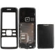 3 in 1 (Metal Front Shell + Metal Back Cover+ Battery Cover) for Nokia 6300, with logo (Black)