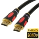 1.4 Version, HDMI to HDMI 19Pin Cable, Support Ethernet, 3D, HD TV / XBOX 360 / PS3 etc, Length: 1.5m (Gold Plated), Black