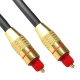 Digital Audio Optical Fiber Toslink Cable, OD: 5.0mm, Length: 1.5m