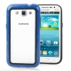 2-color (Plastic + TPU) Bumper Frame for Samsung Galaxy Win i8550 / i8552 (Blue)