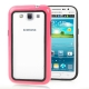 2-color (Plastic + TPU) Bumper Frame for Samsung Galaxy Win i8550 / i8552  (Magenta)