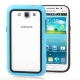 2-color (Plastic + TPU) Bumper Frame for Samsung Galaxy Win i8550 / i8552  (Baby Blue)