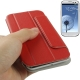 Flip Leather Case Cover Pouch with Holder for Samsung Galaxy SIII / i9300 (Red)