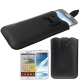 Leather Case Pocket Pouch Sleeve Bag with Pull Tab for Samsung Galaxy Note II / N7100 / Galaxy Note / i9220 / N7000, Note LTE / N7005 (Black)
