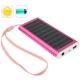 1350mAh Solar Charger for Mobile phone, Digital camera, PDA, MP3/MP4 Player (Magenta)