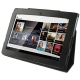 Leather Case with Holder for Sony Tablet S / S1 (Black)