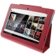 Leather Case with Holder for Sony Tablet S / S1 (Red)