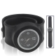 Silicon Quartz Snap Sport Wrist Watch (Black)