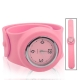Silicon Quartz Snap Sport Wrist Watch (Pink)