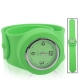 Silicon Quartz Snap Sport Wrist Watch (Green)