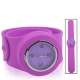 Silicon Quartz Snap Sport Wrist Watch (Magenta)