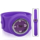 Silicon Quartz Snap Sport Wrist Watch (Purple)