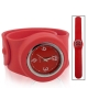 Silicon Quartz Snap Sport Wrist Watch (Red)