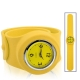 Silicon Quartz Snap Sport Wrist Watch (Yellow)