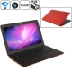 MC207, HSD-S1330 Red, 13.3 inch Aluminum Shell Slim AirBook Notebook Computer with WIFI, 1.3 Mega Pixels Camera, 500GB Hard Disk, Windows XP OS, CPU: Intel Atom D2550 Dual Core, 1.86GHz