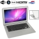 MC207, HSD-S1330 Silver, 13.3 inch Aluminum Shell Slim AirBook Notebook Computer with WIFI, 1.3 Mega Pixels Camera, 320GB Hard Disk, Windows XP OS, CPU: Intel Atom D2550 Dual Core, 1.86GHz