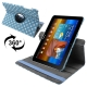 Dot Style 360 Degree Rotatable Leather Case with Holder for Samsung Galaxy Tab 10.1 / P7500 / P7510 (Blue)