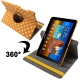 Dot Style 360 Degree Rotatable Leather Case with Holder for Samsung Galaxy Tab 10.1 / P7500 / P7510 (Orange)