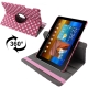Dot Style 360 Degree Rotatable Leather Case with Holder for Samsung Galaxy Tab 10.1 / P7500 / P7510 (Red plum)