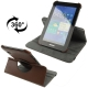 360 Degree Rotatable Leather Case with Holder for Samsung Galaxy Tab 2 / P3100 (Brown)