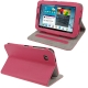 Litchi Texture Horizontal Flip Smart Cover with Holder for Samsung Tab 2 / P3100, Support Tab P6200 (Magenta)