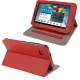 Litchi Texture Horizontal Flip Smart Cover with Holder for Samsung Tab 2 / P3100, Support Tab P6200 (Red)