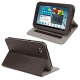 Litchi Texture Horizontal Flip Smart Cover with Holder for Samsung Tab 2 / P3100, Support Tab P6200 (Brown)