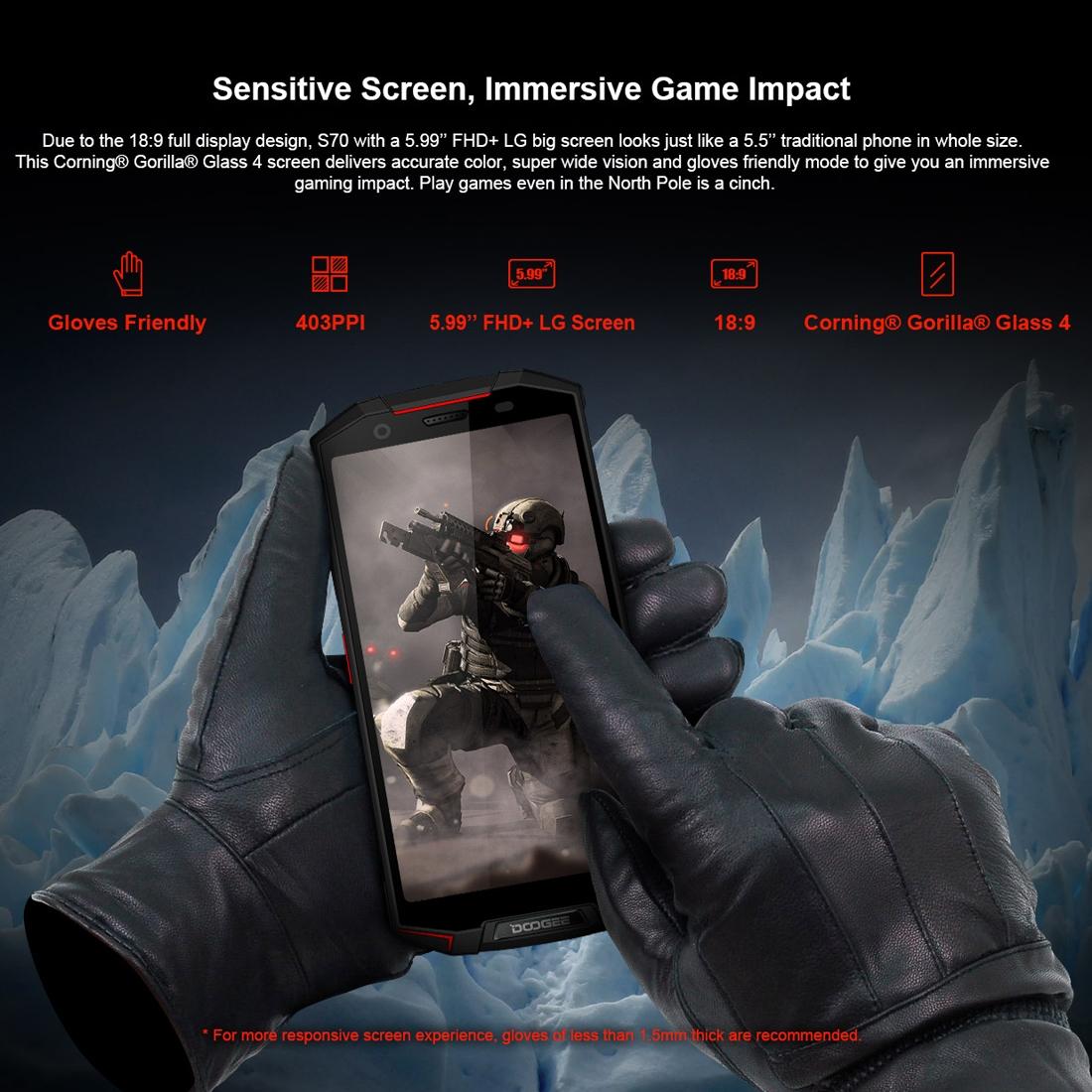 Проектор Смартфон DOOGEE S70 6GB+64GB Защита от влаги пыли ударов по стандарту IP68/IP69K MIL-STD-810G 5500мАч батарея Двойная камера (Фото 5)
